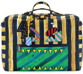 Fendi Striped Leather Monster Duffle Bag, Multi
