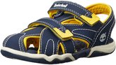 Timberland Adventure Seeker Closed Toe Dress Sandal (Big Kid),Navy/Yellow,7 M US Big Kid