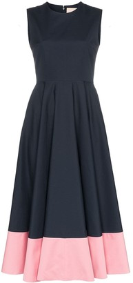 Roksanda Athena contrast-hem midi-dress