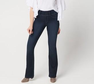 "Laurie Felt Curve Silky Denim Boot-Cut Jeans - ""Indigo"""