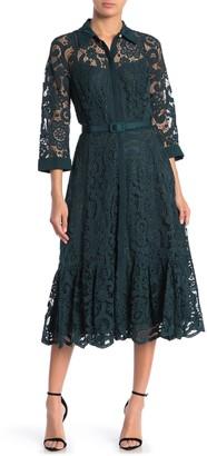 Nanette Lepore Lace Midi Shirt Dress (Regular & Plus Size)