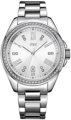 JBW Capri 1/8 C.T. T.W. Diamond Womens Silver Tone Stainless Steel Bracelet Watch-J6340d