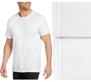 Jockey Men's Flex 365 Cotton Stretch Crew Neck T-Shirt 2 pack