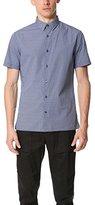 Vince Men's Short Sleeve Jacquard Button Down Shirt