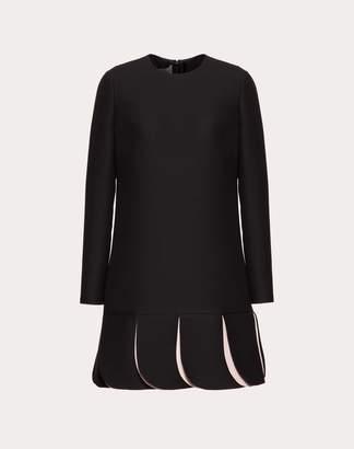 Valentino Crepe Couture Dress Women Black 40