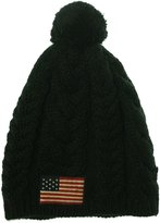 Polo Ralph Lauren Cable Knit USA Flag Wool Cap