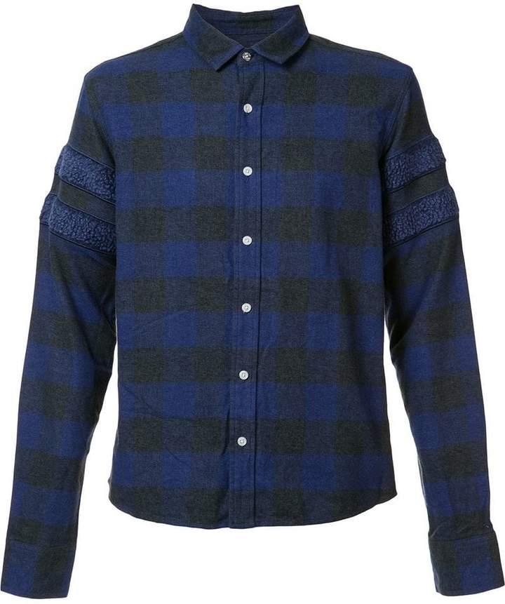 Mostly Heard Rarely Seen sleeve detailing plaid shirt