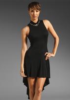 Heather Hi Lo Mock Maxi Dress