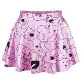 Jiayiqi Adventure Time Lumpy Mini Skirt Evening Club Ball Gown Skirt for Women Girls