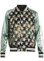 Valentino Souvenir Camouflage and stars-print jacket