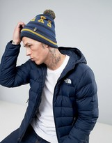 The North Face Tuke Bobble Beanie Explorer In Navy/blue