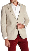 Tailorbyrd White Ribbed Corduroy Two Button Modern Fit Sport Coat