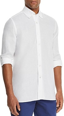 Canali Linen Regular Fit Sport Shirt