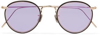 Eyevan 7285 Round-Frame Acetate and Gold-Tone Sunglasses - Men - Purple