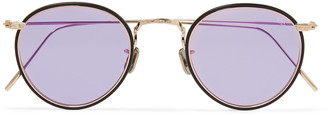 Eyevan 7285 Round-Frame Acetate And Gold-Tone Sunglasses
