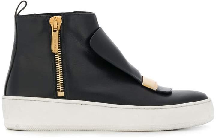 Sergio Rossi zipped hi-top sneakers