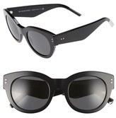 Burberry Women's 49Mm Retro Sunglasses - Black