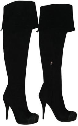Fendi Black Suede Boots