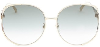 Gucci 63MM Oversized Oval Sunglasses