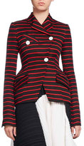 Proenza Schouler Striped Double-Breasted Blazer, Multi