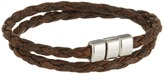 Torino Leather Co. Braided Leather Double Wrap Bracelet