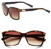Calvin Klein Tortoise Shell, 57mm, Square Sunglasses