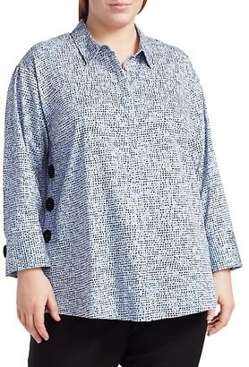 NIC+ZOE, Plus Size Naples Stretch-Cotton Tunic