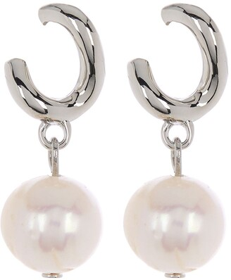 Carolee Sterling Silver Freshwater Pearl Drop Earrings