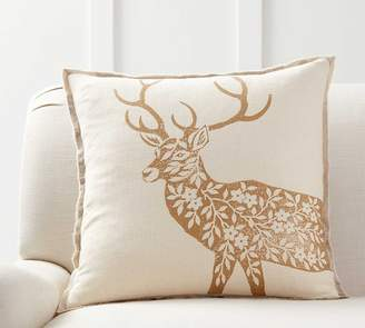 Pottery Barn Dodson Deer Block Print Pillow Cover