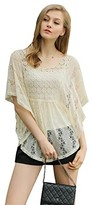 Up Ultrapink UP Ultrapink Women's Missy Flutter Sleeve Allover Lace Blouse with Crochet Insert