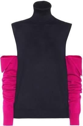 Calvin Klein Cold-shoulder wool sweater