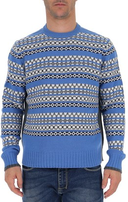 Prada Intarsia Knitted Sweater