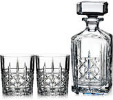 Marquis by Waterford 4-Pc. Brady Stoppered Decanter & Double Old Fashioned Glasses Set