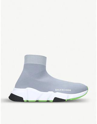 Balenciaga Speed Knitted High-Top Trainers, Size: EUR 35 / 2 UK WOMEN