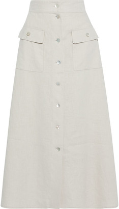 Iris & Ink Michelle Linen Midi Skirt