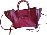 Balenciaga \Papier\ leather shoulder bag