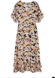 Lily & Lionel Black Confetti Print Fran Dress - small