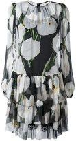 Dolce & Gabbana tulip print sheer dress - women - Silk/Cotton/Polyamide/Spandex/Elastane - 42