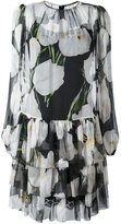 Dolce & Gabbana tulip print sheer dress - women - Silk/Cotton/Polyamide/Spandex/Elastane - 46