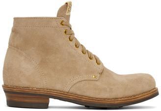 Visvim Beige Brigadier Folk Boots