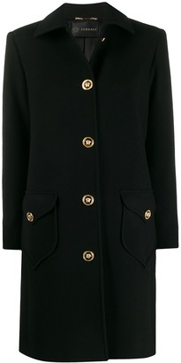 Versace Medusa button single-breasted coat