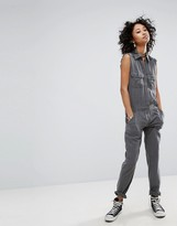 Honey Punch Military Jumpsuit With Front Pockets
