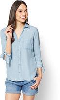 New York & Co. Soho Soft Shirt - Ultra-Soft Chambray