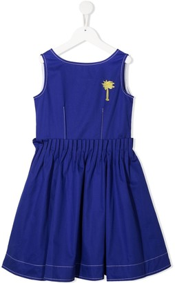 Marni Palm-Print Cotton Dress