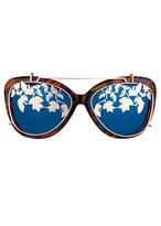 Matthew Williamson Orange Tortoiseshell Mirrored Cat Eye Sunglasses