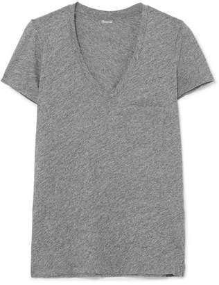 Madewell Whisper Slub Cotton-jersey T-shirt - Gray