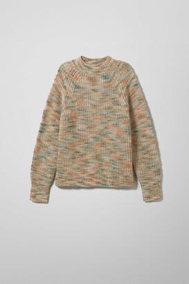 Weekday Cludette Space Dye Sweater - Beige