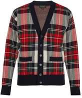 Burberry V-neck tartan intarsia-knit cardigan