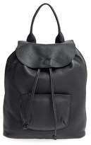 Elizabeth and James 'Langley' Pebbled Leather Backpack - Black