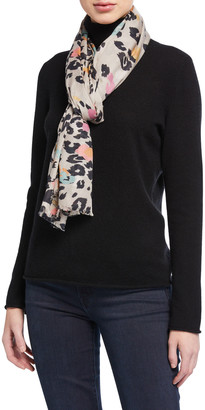Lily & Lionel Dancing Leopard Print Scarf